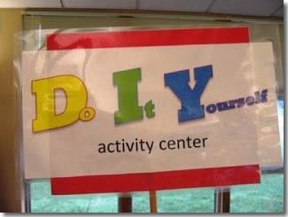 DIY activity center
