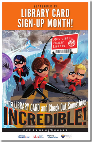 Library Card Signup Month poster
