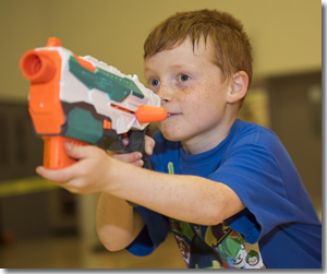 Photo of a Nerf gun