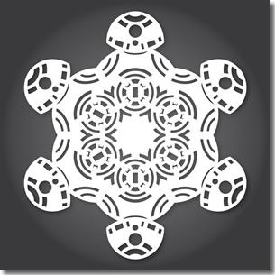 BB8 snowflake pattern