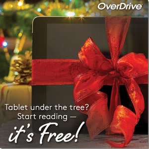 Tablet under the Christmas tree