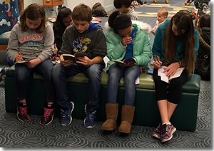 photo of teens reading