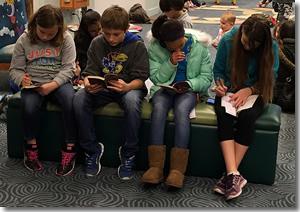 photo of teens reading