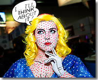 photo of a woman in awesome makeup job in the Lichtenstein style by Tony Aceves is made available under an Attribution-NonCommercial 2.0 Generic (CC BY-NC 2.0) Creative Commons license