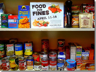 Food for Fines photo credit: Lester Public Library
